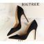 รองเท้าส้นสูงปลายแหลมทรงสวยสีดำ/แดง/เขียว/ชมพูนู๊ด ไซต์ 34-39 thumbnail 9