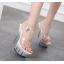 รองเท้าส้นสูงดีไซน์ส้นสวยหรูสีแดง/ดำ/ขาว ไซต์ 34-40 thumbnail 8