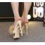 รองเท้าส้นสูงแบบสวมสีชมพู/ดำ/ฟ้า/ครีม ไซต์ 34-40 thumbnail 7