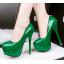 รองเท้าส้นสูง ไซต์ 34-39 สีดำ สีแดง สีชมพู สีเขียว thumbnail 7