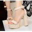 รองเท้าส้นสูง ไซต์ 34-39 สีดำ/แดง/ครีม/น้ำตาลเข้ม/น้ำตาลอ่อน/เทา thumbnail 6