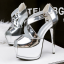 รองเท้าส้นสูง ไซต์ 34-39 สีดำ/เงิน/ทอง/เทา thumbnail 10
