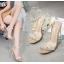 รองเท้าส้นสูงส้นแก้วสีเงิน/ทอง ไซต์ 35-39 thumbnail 4