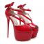 รองเท้าส้นสูงส้นเข็มสีแดง/ดำ ไซต์ 34-40 thumbnail 8