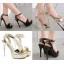 รองเท้าส้นสูงสีดำ/ทอง ไซต์ 34-39 thumbnail 1