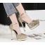รองเท้าส้นสูงเกร็ดเพชรแน่นสีดำ/ขาว/เงิน/ทอง/แชมเปน ไซต์ 34-39 thumbnail 4