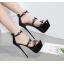 รองเท้าส้นสูงสีเงิน/ดำ ไซต์ 34-40 thumbnail 3