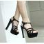 รองเท้าส้นสูง ไซต์ 35-39 สีดำ/น้ำตาล thumbnail 4