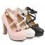 รองเท้าส้นสูงแต่งดอกไม้น่ารักๆสีชมพู/ขาว/ดำ ไซต์ 34-43 thumbnail 11