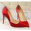 รองเท้าส้นสูงปลายแหลมทรงสวยสีดำ/แดง/เขียว/ชมพูนู๊ด ไซต์ 34-39 thumbnail 3