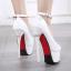 รองเท้าส้นสูง ไซต์ 34-38 สีดำ/ขาว thumbnail 5