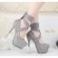 รองเท้าส้นสูง ไซต์ 34-39 สีดำ/เทา/ม่วง/เขียวขี้ม้า thumbnail 7