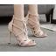 รองเท้าส้นสูงสายไขว้สีชมพู/ดำ ไซต์ 35-40 thumbnail 2