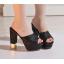 รองเท้าส้นสูงกากเพชรหรูสีทอง/เงิน/ดำ/ขาว ไซต์ 34-39 thumbnail 9