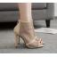 รองเท้าส้นสูงสีแอพพริคอท/ดำ ไซต์ 35-40 thumbnail 4