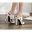 รองเท้าส้นสูงแบบสวมสีดำ/ขาว ไซต์ 35-40 thumbnail 4