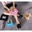 รองเท้าส้นสูงแบบสวมสีชมพู/ดำ/ฟ้า/ครีม ไซต์ 34-40 thumbnail 10