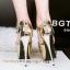 รองเท้าส้นสูง ไซต์ 34-39 สีดำ/เงิน/ทอง/เทา thumbnail 5