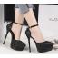 รองเท้าส้นสูงเกร็ดเพชรแน่นสีดำ/ขาว/เงิน/ทอง/แชมเปน ไซต์ 34-39 thumbnail 11
