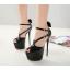 รองเท้าส้นสูงส้นเข็มสีแดง/ดำ ไซต์ 34-40 thumbnail 5