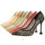 รองเท้าส้นสูงปลายแหลมผ้าลุกไม้เก็บทรงสวยเป๊ะสีดำ/ขาว/ครีม/ชมพู/ม่วง/แดง ไซต์ 34-40 thumbnail 2