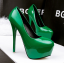 รองเท้าส้นสูง ไซต์ 34-39 สีดำ สีแดง สีชมพู สีเขียว thumbnail 12