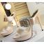 รองเท้าส้นสูงแบบสวยหรูสีดำ/ครีม ไซต์ 34-38 thumbnail 9