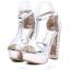 รองเท้าส้นสูง ไซต์ 34-39 สีเงิน สีทอง สีขาว thumbnail 8