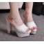 รองเท้าส้นสูงกากเพชรหรูสีทอง/เงิน/ดำ/ขาว ไซต์ 34-39 thumbnail 4