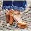 รองเท้าส้นสูงสีน้ำตาล/ดำ/ครีม/แดง ไซต์ 34-39 thumbnail 6