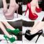 รองเท้าส้นสูง ไซต์ 34-39 สีดำ สีแดง สีชมพู สีเขียว thumbnail 1
