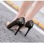 รองเท้าส้นสูงปลายแหลมสีทอง/ชมพูนู๊ด ไซต์ 35-40 thumbnail 5
