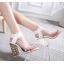รองเท้าส้นสูงส้นหนาสีดำ/ขาว ไซต์ 34-40 thumbnail 6