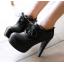 รองเท้าส้นสูงหุ้มเท้าน่ารักๆสีดำ/น้ำตาล/ครีม ไซต์ 34-43 thumbnail 4