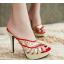 รองเท้าส้นสูงแบบสวมสีแดง/ดำ ไซต์ 34-39 thumbnail 4