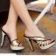 รองเท้าส้นสูงแบบสวมสีแดง/ดำ ไซต์ 34-39 thumbnail 2