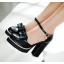 รองเท้าส้นสูงสีแดง/ครีม/ขาว/ดำ ไซต์ 34-39 thumbnail 4