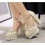 รองเท้าส้นสูงสีแดง/ครีม/ขาว/ดำ ไซต์ 34-39 thumbnail 6
