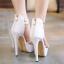 รองเท้าส้นสูง ไซต์ 35-40 สีดำ/ขาว thumbnail 3