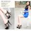 รองเท้าส้นสูงแบบสวยสีครีม/ดำ ไซต์ 34-39 รุ่นนี้แนะนำ +1 จากไซต์ที่ใส่ปกติ thumbnail 5