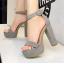 รองเท้าส้นสูง ไซต์ 34-39 สีดำ/แดง/ครีม/น้ำตาลเข้ม/น้ำตาลอ่อน/เทา thumbnail 7