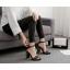 รองเท้าส้นสูงแต่งคริสตัลเม็ดเล็กสวยหรูสีดำ/แดง/ครีม ไซต์ 35-40 thumbnail 5