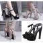 รองเท้าส้นสูงเปิดส้นสีดำ/น้ำตาล ไซต์ 34-39 thumbnail 1