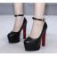 รองเท้าส้นสูงสีนู๊ด/ดำ ไซต์ 35-39 thumbnail 4