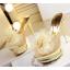 รองเท้าส้นสูงแบบสวมแต่งกุหลาบผ้าสีดำ /ทอง ไซต์ 34-38 thumbnail 8