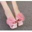 รองเท้าส้นสูงแบบสวมสีชมพู/ดำ/ฟ้า/ครีม ไซต์ 34-40 thumbnail 2