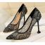 รองเท้าส้นสูงปลายแหลมผ้าลุกไม้เก็บทรงสวยเป๊ะสีดำ/ขาว/ครีม/ชมพู/ม่วง/แดง ไซต์ 34-40 thumbnail 3
