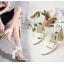 รองเท้าส้นสูงส้นหนาสีดำ/ขาว ไซต์ 34-40 thumbnail 2