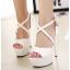 รองเท้าส้นสูง ไซต์ 35-40 สีดำ/ขาว/ครีม thumbnail 4