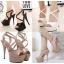 รองเท้าส้นสูง ไซต์ 35-40 สีดำ/ขาว/ครีม thumbnail 1